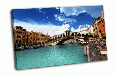 Картина мост риальто в венеции
