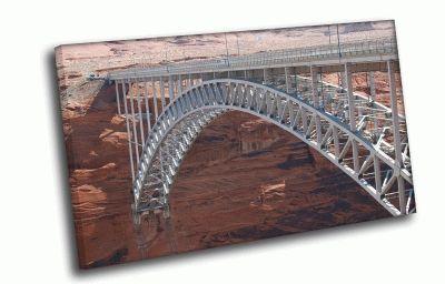 Картина мост в каньоне