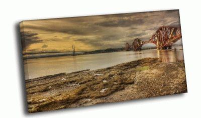 Картина мост в коричневых тонах