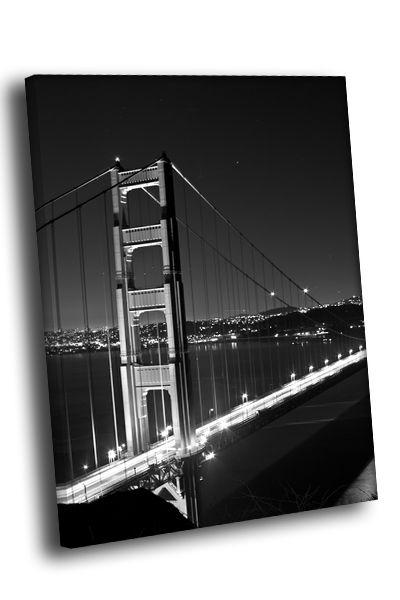 Картина мост в ночи