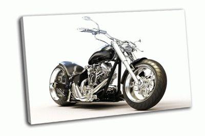 Картина мотоцикл на белом фоне