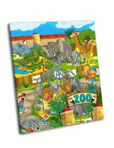 Картина мультфильм зоопарк