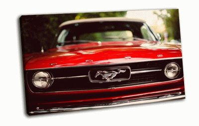 Картина mustang  red