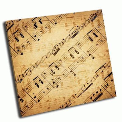 Картина музыкалный фон-гранж