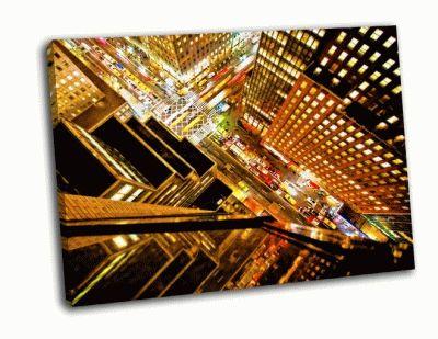 Картина на 42-й улице в нью-йорке вид сверху