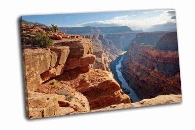 Картина национальный парк  гранд-каньон на рассвете