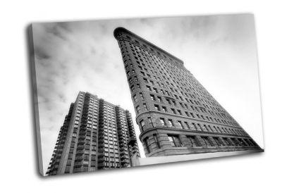 Картина небоскреб флэтайрон-билдинг