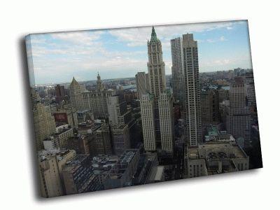 Картина небоскребы