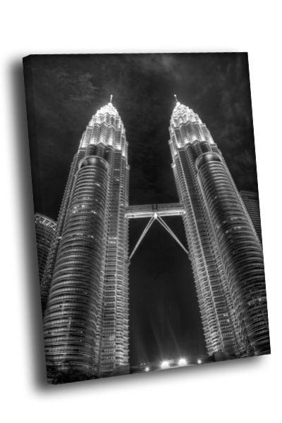 Картина небоскребы близнецы