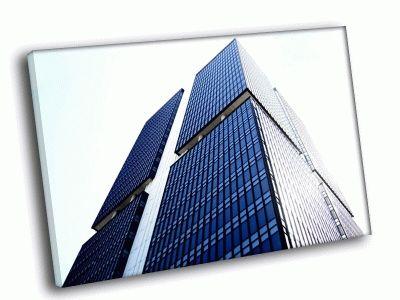 Картина небоскребы днем