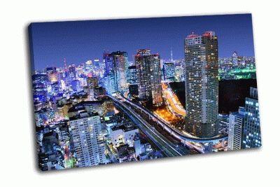 Картина небоскребы минато-ку