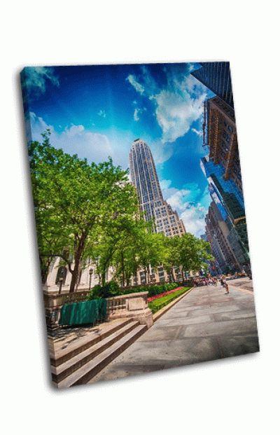 Картина небоскребы нью-йорка на 5-й авеню