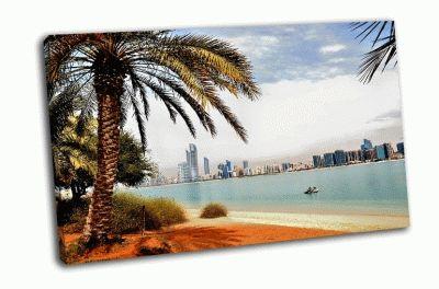 Картина небоскребы в абу-даби