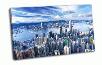 Картина небоскрёбы в гонконге