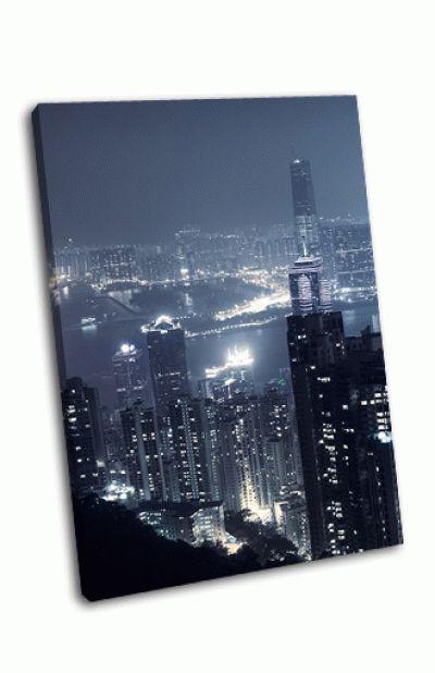 Картина небоскребы в гонконге