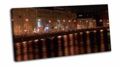 Картина ночная фонтанка