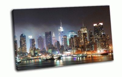 Картина ночной нью-йорк