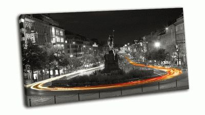 Картина ночной вид на вацлавскую площадь