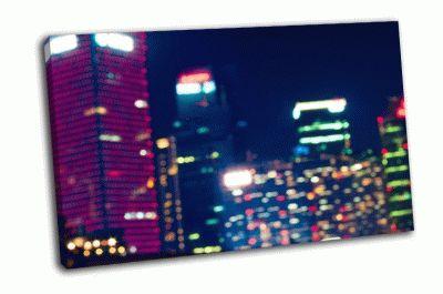 Картина ночные огни большого города
