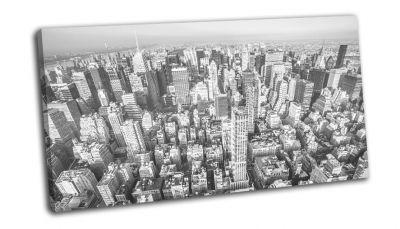 Картина нью-йорк черно-белый панорамный вид