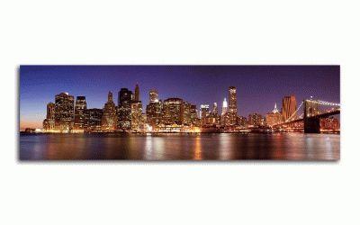 Картина нью-йорк панорамный вид на манхэттен