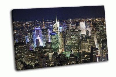 Картина нью-йорк с площади таймс-сквер