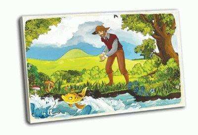 Картина о рыбаке и рыбке
