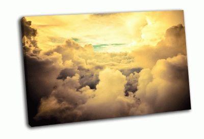 Картина облачные образования вид с самолета