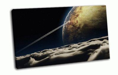 Картина облака и планета