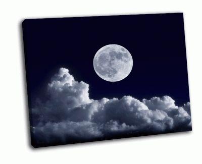 Картина облака и полная луна