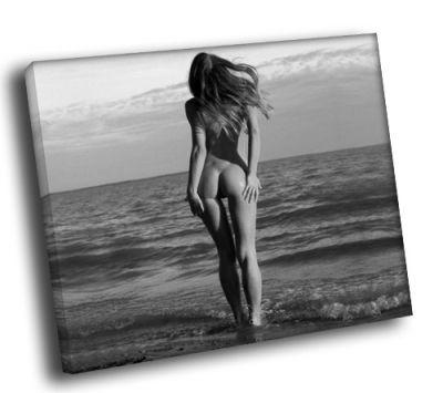 Картина обнаженная девушка у моря