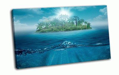 Картина одинокий остров
