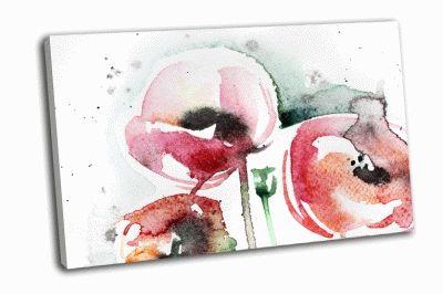 Картина окрашенный абстрактный цветочный фон