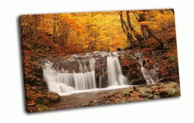 Картина опадающая листва