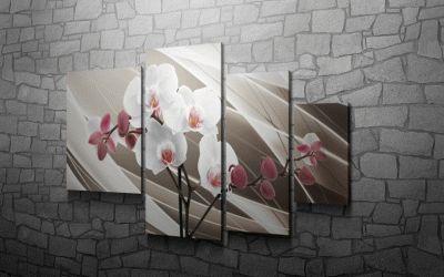 Картина орхидея серебряная