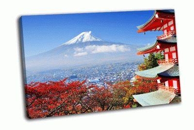Картина осень в японии