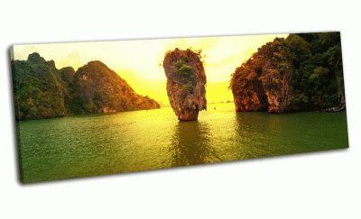 Картина остров джеймса бонда,закат