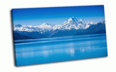 Картина озеро текапо, новая зеландия