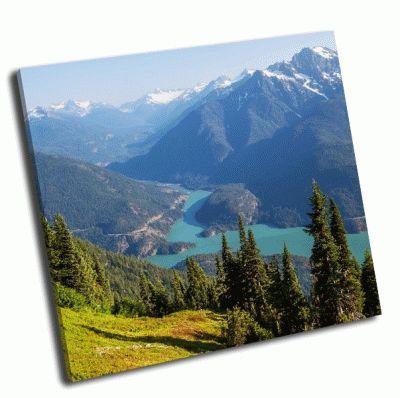 Картина озеро  в вашингтоне