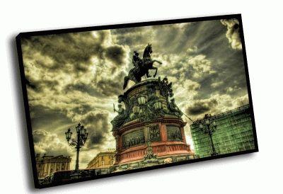 Картина памятник николаю i на исаакиевской площади