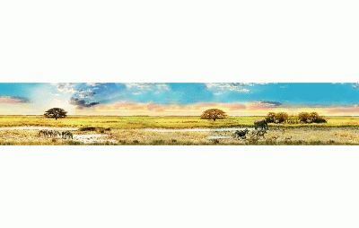 Картина панорама дикой природы