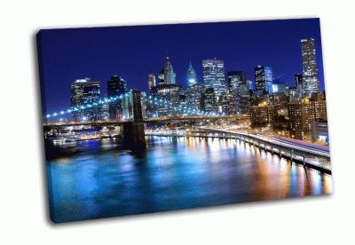 Картина панорама города нью-йорка