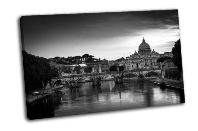Картина панорама города ватикана