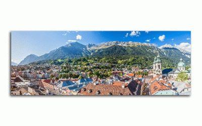 Картина панорама инсбрука, австрия