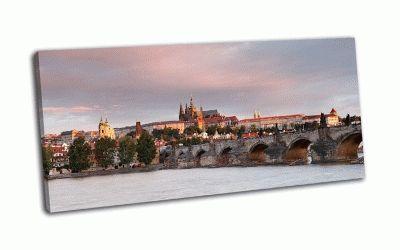 Картина панорама карлова моста, прага