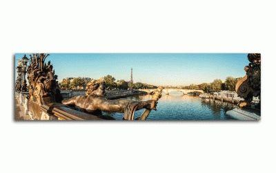 Картина панорама на мост александра iii