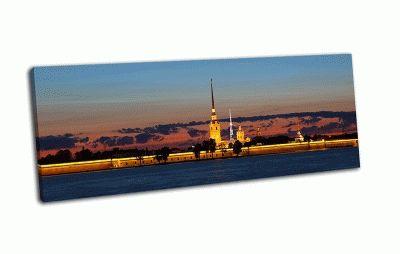 Картина панорама на петропавловскую крепость