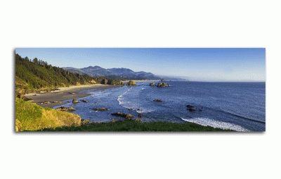 Картина панорама орегона, кэннон-бич