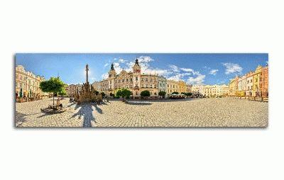 Картина панорама площади в пардубице, чехия