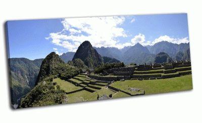 Картина панорама с террасы в перу